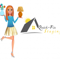 Quick Fix Logo with Standing Girl PNG